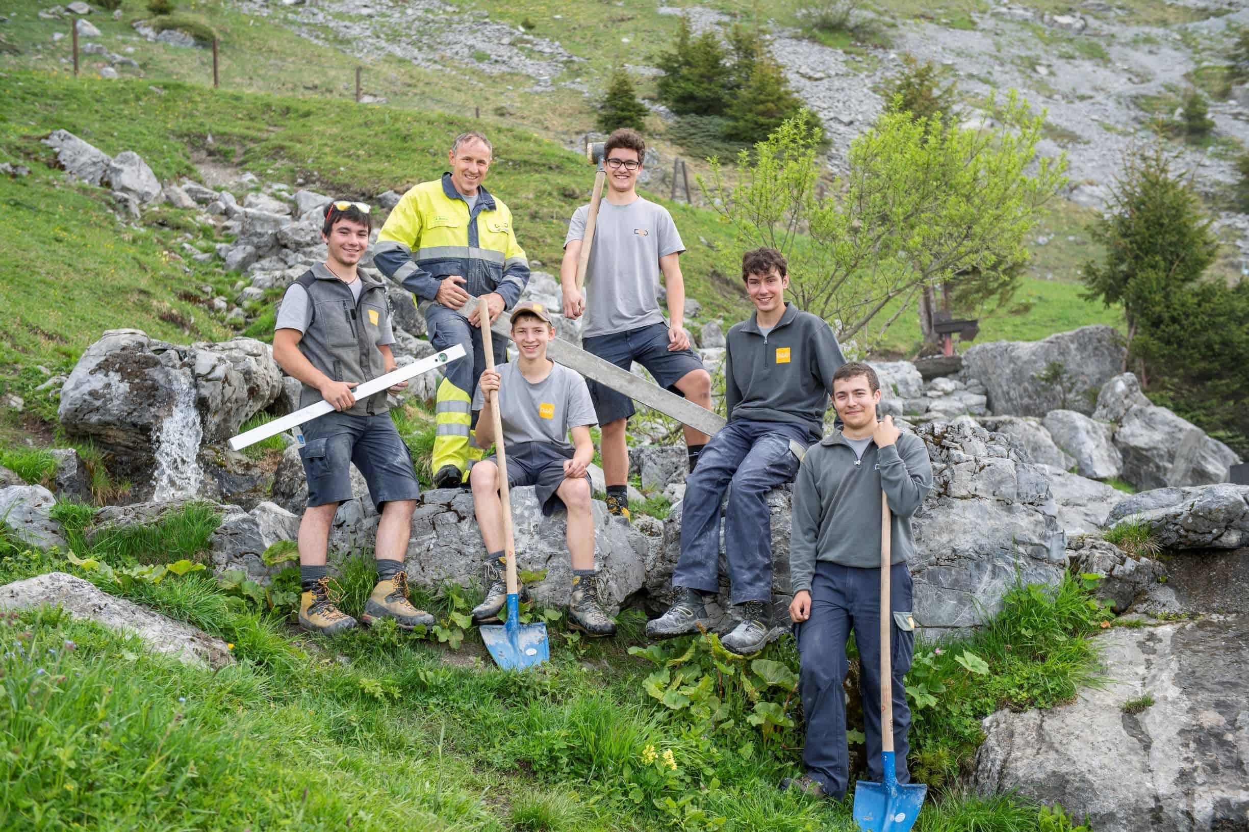 beruns-Engagement-Lehrlingswoche-Brunni-Gruppe